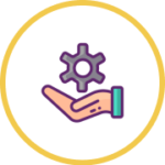 hand and gear icon