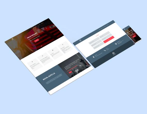 royal auto LA web layout