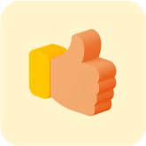 thumbs-up icon; like icon